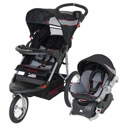 Baby Trend Expedition All Terrain Jogger Tri Stroller & Car Seat Travel System