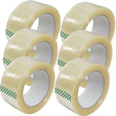 Clear Parcel Packing Strong Tape 48Mm X 66M Box Sealing Sellotape Packaging