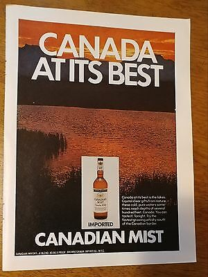 1971 Canadian Mist Whisky Canada at its best Vintage Original Print Ad Imported