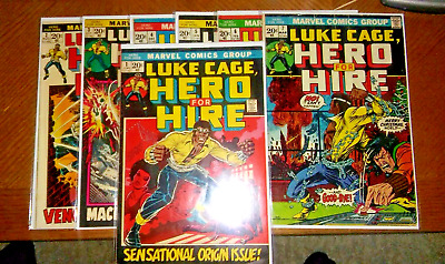 Hero For Hire #S 1,2,3,4,5,6,&7!!! 7 BOOK LOT!! PLS C PHOTOS + DESCRIPTIONS!!!!!