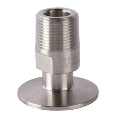 Tri Clamp/Clover to MNPT Adapter | 3/4 inch x 1.5 (1 1/2) - Sanitary SS304