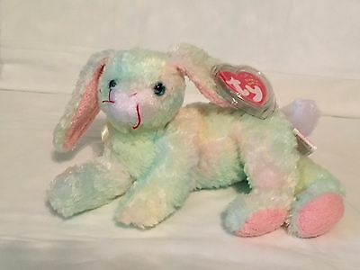 2cf89ce5d2a TY Beanie Baby - COTTONBALL the Bunny Rabbit - Pristine w  Mint Tags -  RETIRED