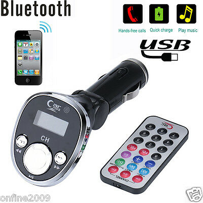 Bluetooth Car Kit FM Transmitter MP3 Player Wireless Adapter USB Charger CA