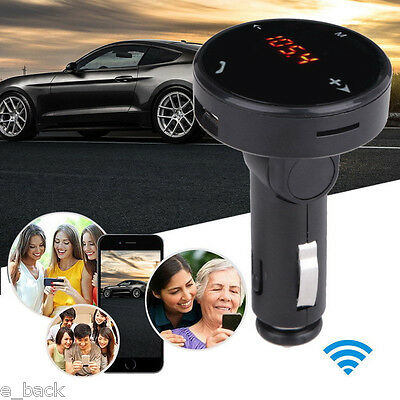 Bluetooth Wireless Car Kit MP3 Player Radio FM Transmitter SD USB Charger Remote