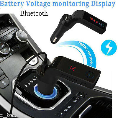 Car Kit Bluetooth Handsfree FM Transmitter Radio MP3 Player USB Charger &AUX CA