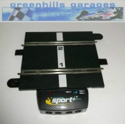 Greenhills Scalextric Sport Track Power Base with Half Straight C8217 Used MT19
