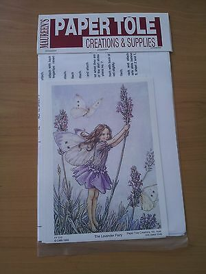 Paper Tole Kit With Instructions - Lavender Fairy With Butterflies