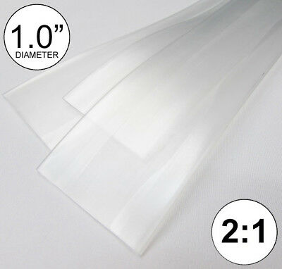 """(4 FEET) 1.0"""" Clear Heat Shrink Tubing 2:1 Ratio Wrap inch/foot/ft/to USA 25mm"""