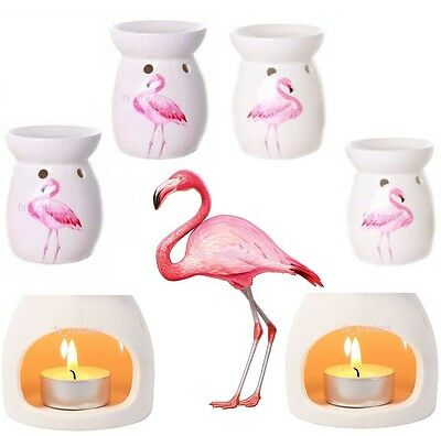 Flamingo Oil Burner Warmer Fragrance Wax Melt Tea Light Candle Holder Boxed Gift