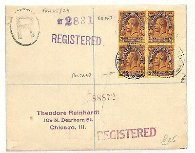 ab362 1929 Turks & Caicos USA Cover samwells-covers
