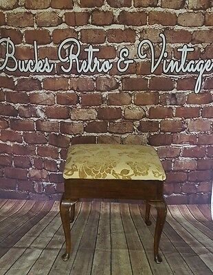 Antique Edwardian Victorian Wooden  Piano Stool Seat Music Box Storage