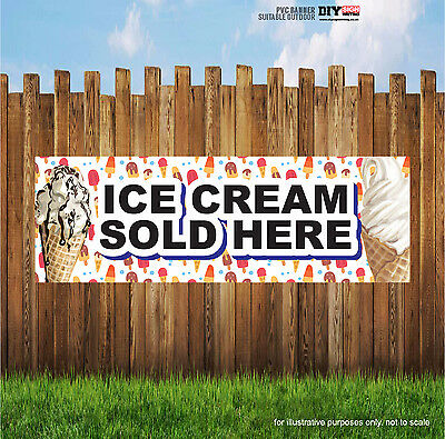 ICE CREAM SOLD HERE WHIPPY SUMMER Indoor and Outdoor PVC Banner Sign