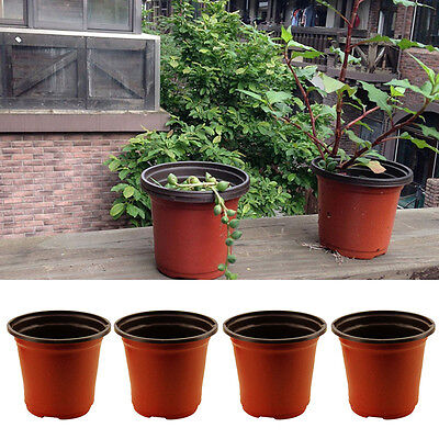 10/20 Pcs Flower Pots Flowerpot Garden Unbreakable Plastic Nursery Pots Decor