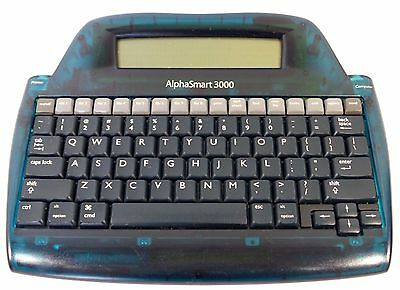 Alphasmart 3000 Portable Laptop Keyboard Word Processor no USB cable/batteries.