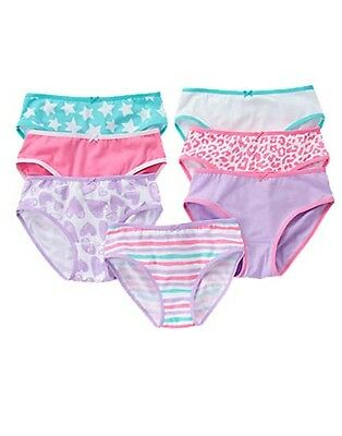 NWT Gymboree Girl 7-pack Panties Underwear 3 4 5 6 7 8 10 12 Stars Stripes Heart