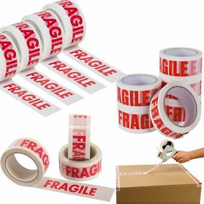 """Fragile Strong Printed Parcel Packing Tape2"""" 50Mm X66M Multilisting1 2 4 6 12.."""