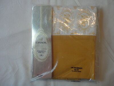 Vintage 1970's Cannon Percale Pillowcases New in Package