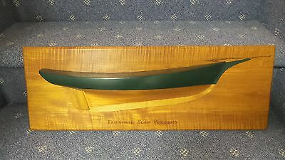 Wooden Half Hull Ship Model Sloop Pemaquid Nautical Maritime Decor