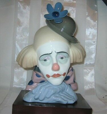 "Lladro - ""Pensive Clown with Bowler Hat"" #5130 Figurine"