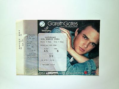 EXTREMELY RARE Gareth Gates Memorabilia - Unused Ticket Stub(s) Wembley 06/03/04