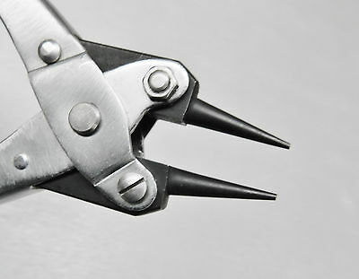 """Parallel Action Pliers Round Nose Smooth Jaw 5-1/2"""" Jewelry Plier 140mm w/Spring"""