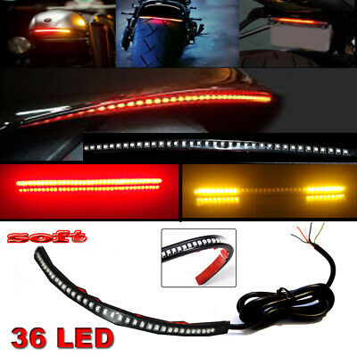 12 bendable universal motorcycle led light strip tail brake flowing turn signal 12 bendable universal motorcycle led light strip tail brake flowing turn signal aloadofball Gallery