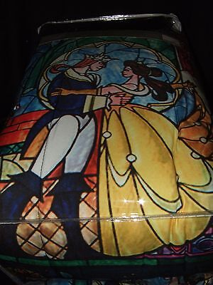 New Disney Beauty And The Beast Stained Glass Belle Roses Full / Queen Comforter