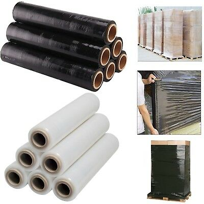 Clear/black Pallet Shrink Stretch Wrap Cast Roll Film Cling Parcel Packing 400Mm