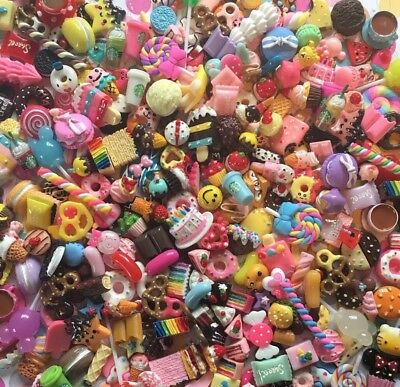 NEW PIECES Resin Assorted Sweet Mix Cabochons, Doll House Miniatures 40pcs