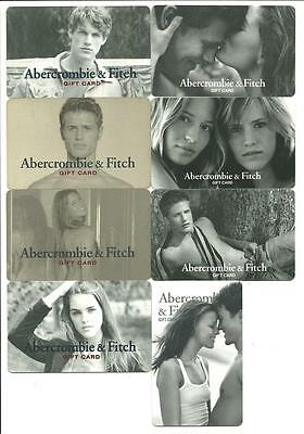 Lot of (8) Abercrombie & Fitch Gift Cards No $ Value Collectible Man Woman