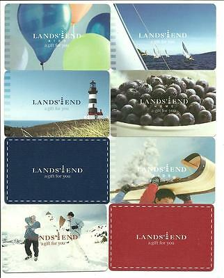 Lot of (8) Lands' End Gift Cards No $ Value Collectible Blueberries Toboggan