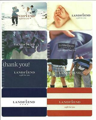 Lot of (8) Lands' End Gift Cards No $ Value Collectible Snowman Feet Flowers