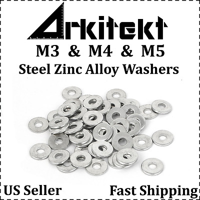 M3 M4 M5 High Strength Steel Alloy Washers - Packs of 10, 20 or 50