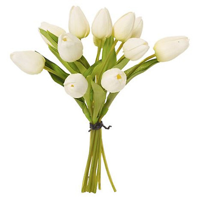 NEW White TULIP 25cm bunch By Freedom