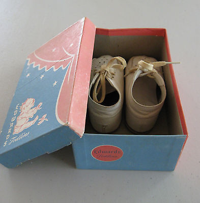 Vintage Edwards Todlins Mid-1950s Baby Shoes with Original Box ~ Made in USA