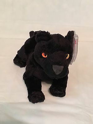 TY Beanie Baby - MIDNIGHT the Black Panther - Pristine with Mint Tags - RETIRED