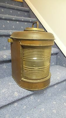 RH Lovell Brass Ship Lantern Antique Rare Vintage Nautical Decor
