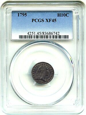 1795 H10c PCGS XF45 - Wholesome Type Coin - Early Half Dime