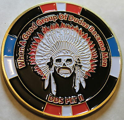 SEAL DELIVERY VEHICLE Team 1 SDVT-1 DDS Platoon II Navy Challenge Coin / Two