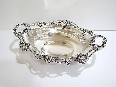 16.25 in Sterling Silver Gorham Antique Grape Oval Bowl / Centerpiece w/ Handles