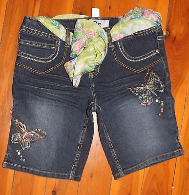 NWT SO 3/4 Denim Shorts with Sequins & Butterflies Size 10.5