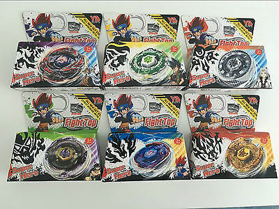 6pcs 5D Beyblade Starter Set Fusion Top Metal Master Rapidity Fight Launcher Toy