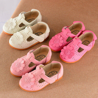 New Toddler Kids Shoes Children Girl Flower Shoes Fashion Princess Single Shoes