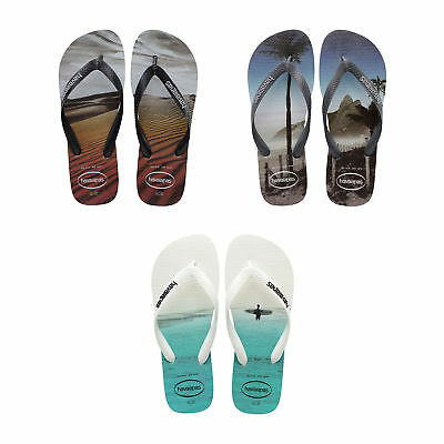 91cf6e646c11 Original Havaianas Hype Flip Flops New Photo Print Men Sandals All Sizes  Colors