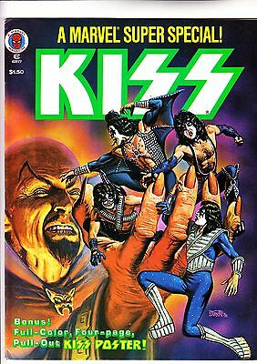 Marvel Super Special 5 Kiss poster intact