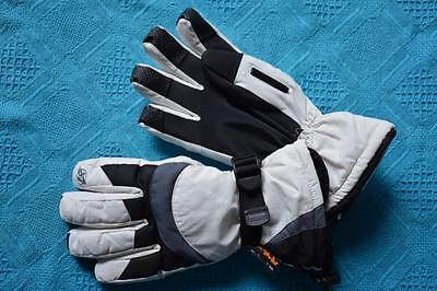 Black/Grey/Bone NEW Ski/Snowboarding SKI GLOVES Junior-L/Womens-M. RAD TEX LABEL