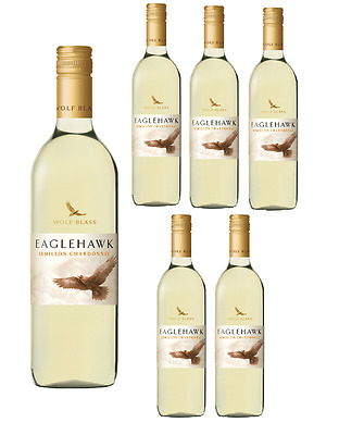 Wolf Blass Eaglehawk Semillon Chardonnay White Wine 2013  5* Winery (6x750ml)