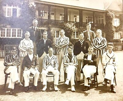 Large 1930's Photograph Unknown Cricket Team poss Bristol University 11 x 9 inch