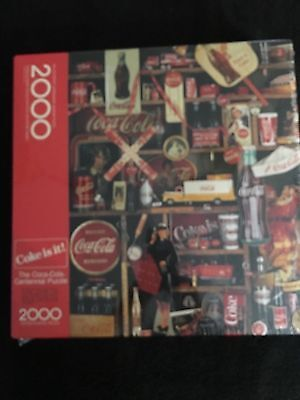 1986 2000 piece Coca Cola Puzzle Unopened in Original Plastic
