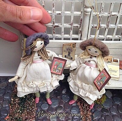 Miniature vintage 1900s Grecon inspired dollshouse doll by Verity Hope